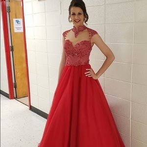 RED BALLGOWN PAGEANT